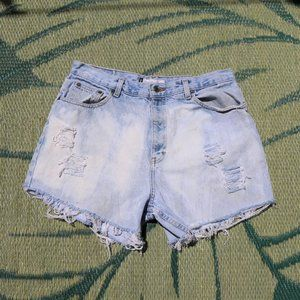 Vintage High Rise Distressed Mom Jean Shorts